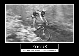 "Barney Stinson motivational poster ""Focus"""